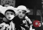Image of war refugee children New York United States USA, 1942, second 36 stock footage video 65675072208