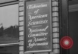 Image of Federation of American Scientists Washington DC USA, 1946, second 24 stock footage video 65675072234