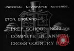 Image of Annual Cross Country Race Eton England United Kingdom, 1933, second 4 stock footage video 65675072246