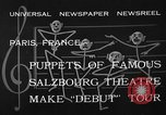 Image of puppets Paris France, 1933, second 6 stock footage video 65675072247