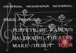 Image of puppets Paris France, 1933, second 10 stock footage video 65675072247