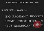Image of American products Aberdeen Washington USA, 1933, second 3 stock footage video 65675072251