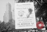 Image of movie tax protest New York City USA, 1961, second 6 stock footage video 65675072265