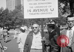 Image of movie tax protest New York City USA, 1961, second 9 stock footage video 65675072265