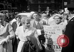 Image of movie tax protest New York City USA, 1961, second 10 stock footage video 65675072265