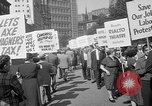 Image of movie tax protest New York City USA, 1961, second 31 stock footage video 65675072265