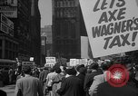 Image of movie tax protest New York City USA, 1961, second 62 stock footage video 65675072265