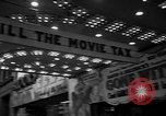 Image of movie tax protest New York City USA, 1954, second 9 stock footage video 65675072267