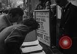 Image of movie tax protest New York City USA, 1954, second 16 stock footage video 65675072267