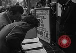 Image of movie tax protest New York City USA, 1954, second 17 stock footage video 65675072267