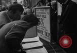 Image of movie tax protest New York City USA, 1954, second 18 stock footage video 65675072267