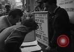 Image of movie tax protest New York City USA, 1954, second 19 stock footage video 65675072267