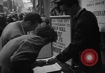 Image of movie tax protest New York City USA, 1954, second 20 stock footage video 65675072267