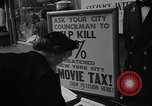 Image of movie tax protest New York City USA, 1954, second 22 stock footage video 65675072267