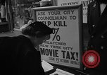 Image of movie tax protest New York City USA, 1954, second 23 stock footage video 65675072267
