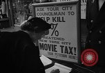 Image of movie tax protest New York City USA, 1954, second 24 stock footage video 65675072267