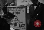 Image of movie tax protest New York City USA, 1954, second 28 stock footage video 65675072267