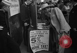 Image of movie tax protest New York City USA, 1954, second 30 stock footage video 65675072267
