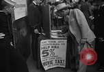 Image of movie tax protest New York City USA, 1954, second 31 stock footage video 65675072267