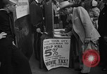 Image of movie tax protest New York City USA, 1954, second 32 stock footage video 65675072267