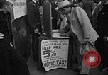 Image of movie tax protest New York City USA, 1954, second 34 stock footage video 65675072267