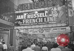 Image of movie tax protest New York City USA, 1954, second 36 stock footage video 65675072267