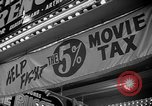 Image of movie tax protest New York City USA, 1954, second 40 stock footage video 65675072267