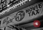 Image of movie tax protest New York City USA, 1954, second 41 stock footage video 65675072267