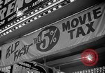 Image of movie tax protest New York City USA, 1954, second 42 stock footage video 65675072267