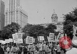 Image of movie tax protest in New York New York City USA, 1961, second 5 stock footage video 65675072269
