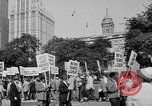 Image of movie tax protest in New York New York City USA, 1961, second 6 stock footage video 65675072269