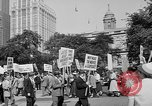 Image of movie tax protest in New York New York City USA, 1961, second 7 stock footage video 65675072269