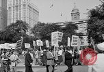 Image of movie tax protest in New York New York City USA, 1961, second 8 stock footage video 65675072269