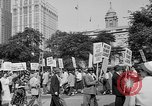 Image of movie tax protest in New York New York City USA, 1961, second 9 stock footage video 65675072269
