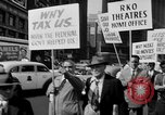 Image of movie tax protest in New York New York City USA, 1961, second 20 stock footage video 65675072269