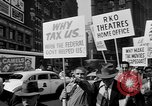 Image of movie tax protest in New York New York City USA, 1961, second 21 stock footage video 65675072269