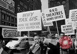 Image of movie tax protest in New York New York City USA, 1961, second 22 stock footage video 65675072269