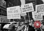 Image of movie tax protest in New York New York City USA, 1961, second 23 stock footage video 65675072269