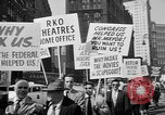 Image of movie tax protest in New York New York City USA, 1961, second 25 stock footage video 65675072269