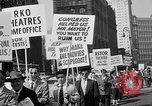 Image of movie tax protest in New York New York City USA, 1961, second 26 stock footage video 65675072269