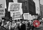 Image of movie tax protest in New York New York City USA, 1961, second 27 stock footage video 65675072269