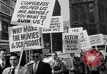 Image of movie tax protest in New York New York City USA, 1961, second 29 stock footage video 65675072269