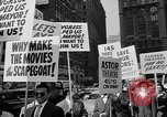 Image of movie tax protest in New York New York City USA, 1961, second 31 stock footage video 65675072269