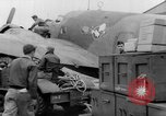 Image of loading airplane with movies for troops overseas New York United States USA, 1943, second 14 stock footage video 65675072285