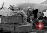 Image of loading airplane with movies for troops overseas New York United States USA, 1943, second 25 stock footage video 65675072285