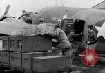 Image of loading airplane with movies for troops overseas New York United States USA, 1943, second 30 stock footage video 65675072285