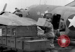 Image of loading airplane with movies for troops overseas New York United States USA, 1943, second 33 stock footage video 65675072285