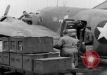 Image of loading airplane with movies for troops overseas New York United States USA, 1943, second 34 stock footage video 65675072285