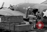 Image of loading airplane with movies for troops overseas New York United States USA, 1943, second 35 stock footage video 65675072285