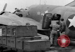 Image of loading airplane with movies for troops overseas New York United States USA, 1943, second 37 stock footage video 65675072285